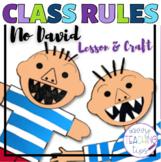 No David Back to School Class Rules Craftivity