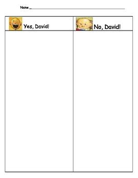 No David Classroom Behavior Sort - Rules (Back to school)