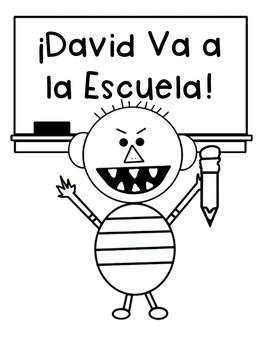 No David Activities {English and Spanish}