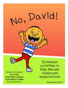 No, David! Extension Activity Pack: Class book, Posters, &