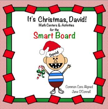 No David, It's Christmas! Smart Board Math Centers & Mini lessons