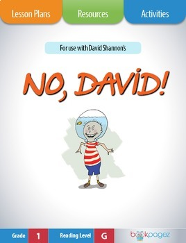 No, David! Lesson Plans & Activities Package, First Grade (CCSS)