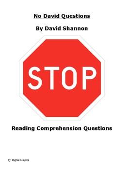 No David!  Reading Comprehension Questions