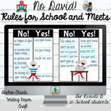 No David! School Rules for In School and Remote Learners