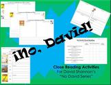 No David Series Close Reading Activities (SPANISH)