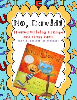 """""""No, David!"""" Themed Creative Writing and Class Book"""