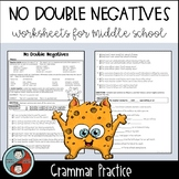 No Double Negatives  - Grammar Worksheets
