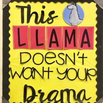 No Drama Llama Bulletin Board
