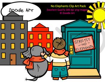 No Elephants Clip Art Pack
