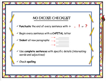 No Excuse Checklist