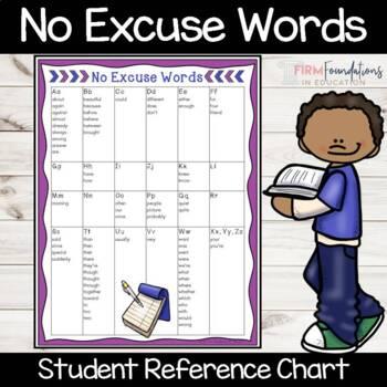 No Excuse Words Freebie
