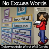 No Excuse Words- Wall Cards- Colored