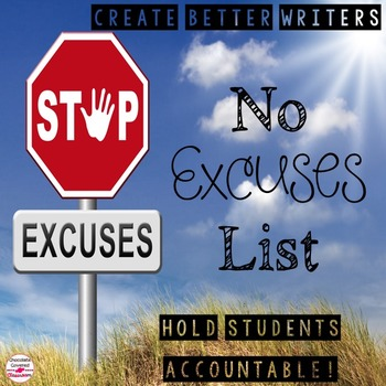 No Excuses List- Create Better Writers!