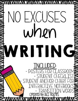No Excuses When Writing