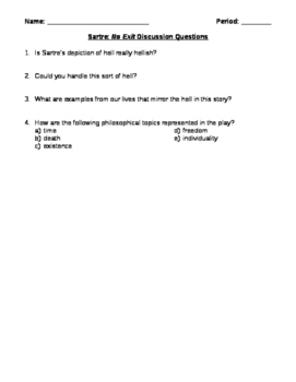 No Exit Discussion Questions