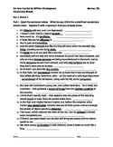 IR No Fear Hamlet by W. Shakespeare Vocabulary Sheets