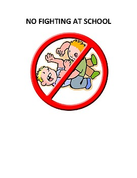No Fighting At School Social Story