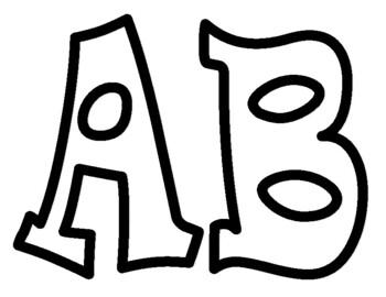 No Fill Alphabet Bulletin Board Letters
