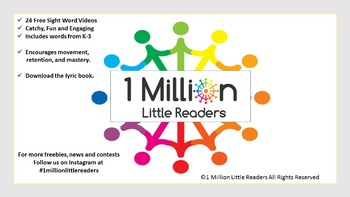 1 Million Little Readers Presents Sight Word Mastery Videos Volume 1 A to H