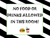 """No Food or Drink"" Poster freebie"
