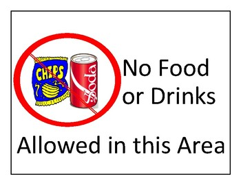 No Food or Drinks Sign