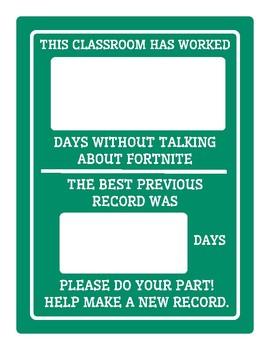 Class Fortnite Poster