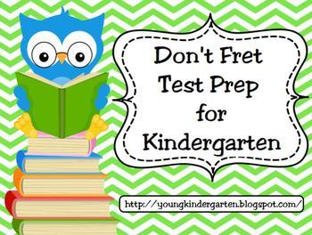 No Fret Kindergarten Test Prep for Promethean Boards