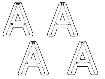 No Frills Modified Handwriting Uppercase Alphabet Book