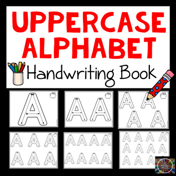 No Frills Modified Handwriting Uppercase Alphabet Book