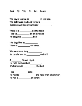 No-Frill Multiple Meaning Words Activities