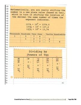 No Frills 5th Grade Interactive Notebook - 5NBT2 Power of Ten