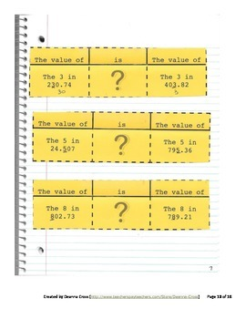 No Frills 5th Grade Interactive Notebook - NBT1 Ten Times and 1/10 Times