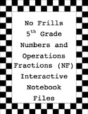 No Frills 5th Grade Interactive Notebook - Prime, Composite, Factor, Multiple
