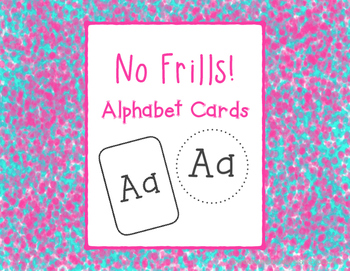 No Frills! Alphabet Cards
