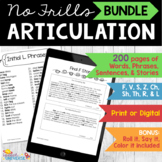 Articulation: No Frills BUNDLE