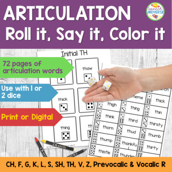 Articulation: No Frills Roll it, Say it, Color it!