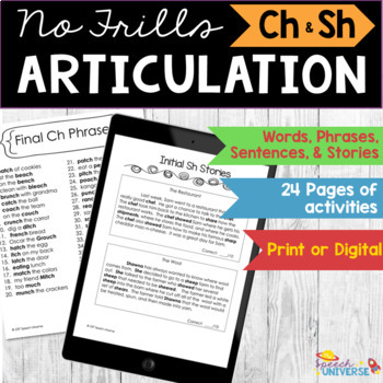 Articulation: No Frills Sh and Ch