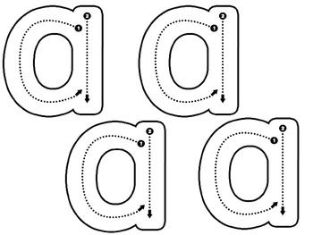 No Frills Modified Handwriting Lowercase Alphabet Book