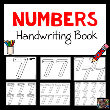 No Frills Modified Handwriting Number Book
