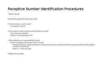 No Frills Receptive/Expressive Number Identification