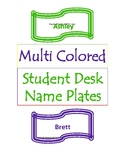 Student Name Plates for Desks/Tables