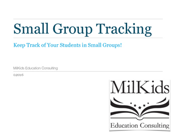 FREE No Frills Student and Small Group Tracker
