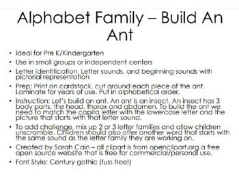 Alphabet Family – Build An Ant