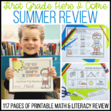 No Fuss No Muss 1st Grade Here I Come Summer printable pack. Distance Learning