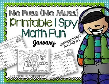 I SPY No Fuss No Muss Printable Math Fun for January-Differentiated and Aligned
