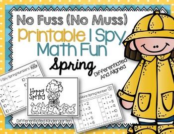 I SPY No Fuss No Muss Printables Math Fun for Spring-Diffe