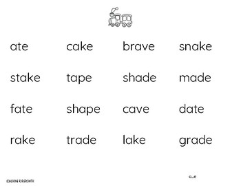 No Fuss Phonics Word Charts - Silent e