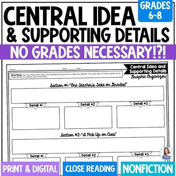 No Grades Necessary Determining the Central Idea and Suppo