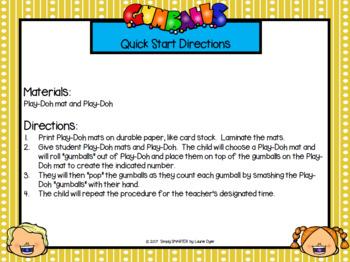 No Gum In School!:  EASY PREP Back to School Themed Smash It!  Play-Doh Activity