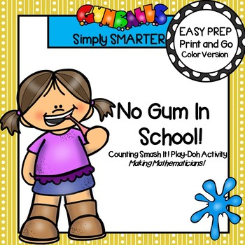 EASY PREP Smash It!  Counting Back To School Themed Play Dough Activity